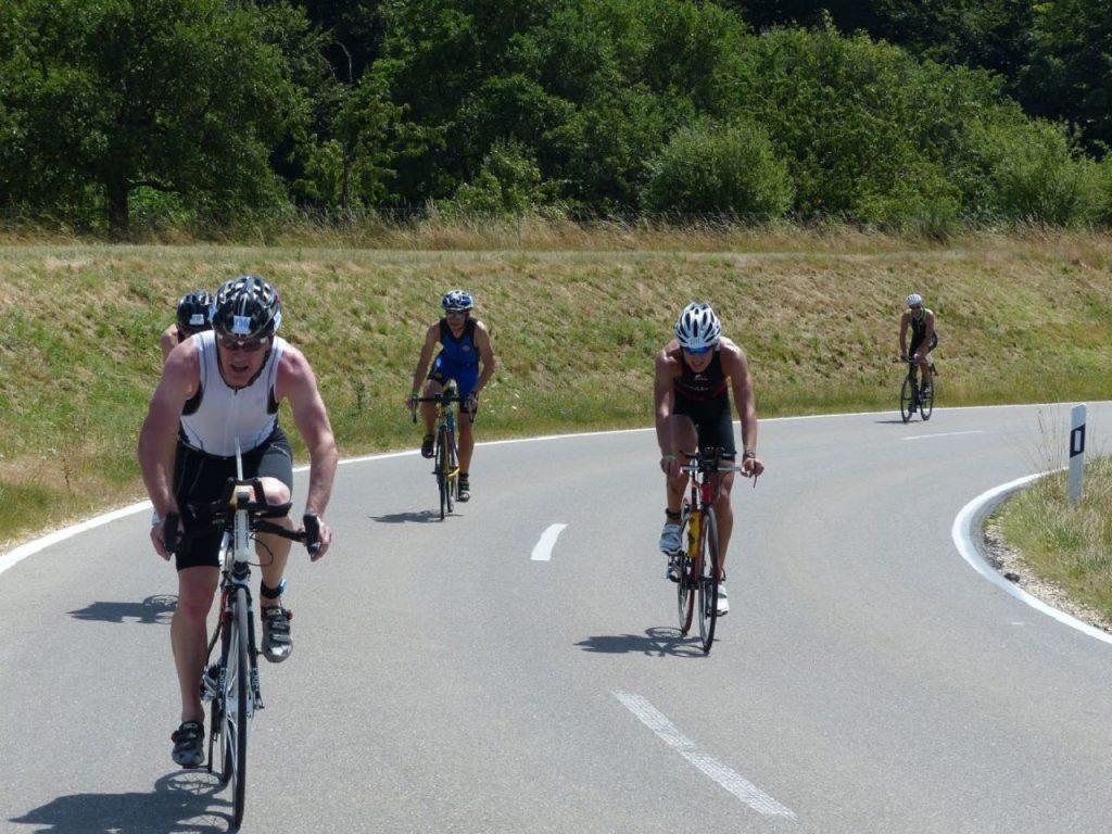 Triathlon auf der Radstrecke